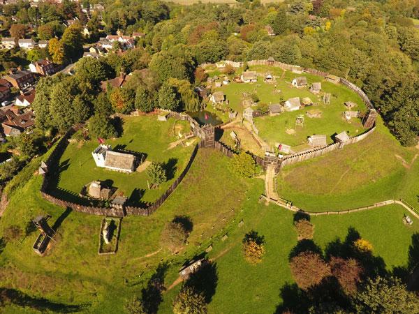 Mountfitchet Castle grounds